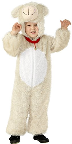 Smiffys Children's Lamb Costume, Jumpsuit with Hood, Party Animals, Size:S, Colour: White and Cream, 30799