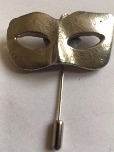 Damen Masquerade Maske Masquerade Ball Größe 2,5cm x 4,2cm tg233English Pewter auf einem Krawattennadel Stick hat Schal Halsband geschrieben von uns Geschenke für alle 2016von Derbyshire UK (Masquerade Stick-masken Für Ball)