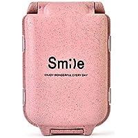 Wawer Smile Pillendose mit 8 Fächer, Mini-Droge Box Fach Stroh Tablet Medikamenten Storage Box Woche Reisetabletten... preisvergleich bei billige-tabletten.eu