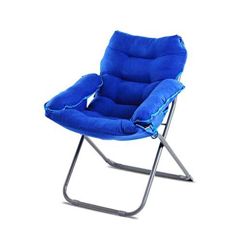 QQXX CJC Liegestühle Sofa Longue Chair Deck Chaise Folding Runde Strong Moon Rot Schwarz (Farbe: ROT) - Schwarz Folding Osmanischen