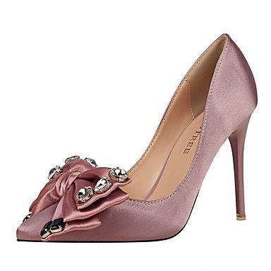 Moda Donna Sandali Sexy donna tacchi tacchi caduta / Punta / punta chiusa abito in seta Stiletto Heel Bowknot più colori disponibili. Red