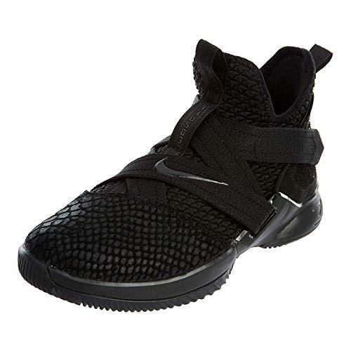 Nike Lebron Soldier XII SFG (GS) Girls Basketball-Shoes AO2910-003_6.5Y - Black/Black-Black