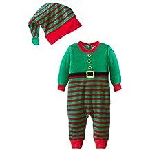 cuteon unisexo beb navidad santa buzos disfraz navidad traje sombrero juego
