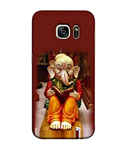 PrintVisa Designer Back Case Cover for Samsung Galaxy S7 Edge :: Samsung Galaxy S7 Edge Duos :: Samsung Galaxy S7 Edge G935F G935 G935Fd (Red Modern Illustration Natural Religion Culture Deity Hindu)