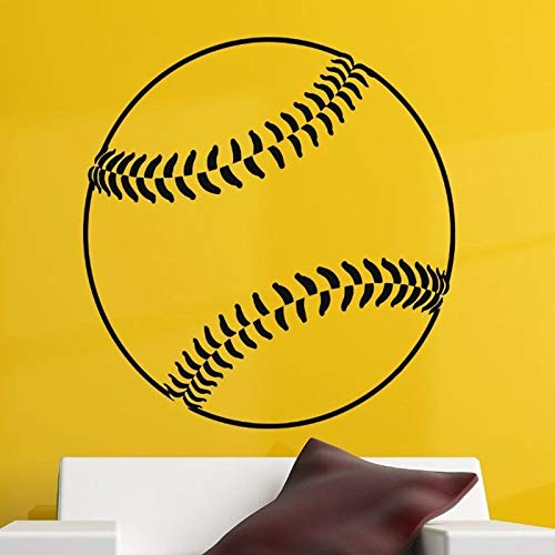 Baseball Car Windows Aufkleber Name Sport Aufkleber Poster Vinyl Wandtattoos Wandaufkleber Dekor Wandbild Baseball Aufkleber 58X58cm Hello Kitty Baseball