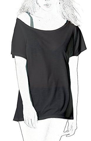 T-Shirt aus Eukalyptus-Fasern, leicht und seidig - Schwarz, Large (Little Trees Kostüm)