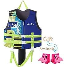 Zeraty Kids Chaleco Ayuda de natación para niños pequeños con brazaletes Mangas de flotación Edad 1