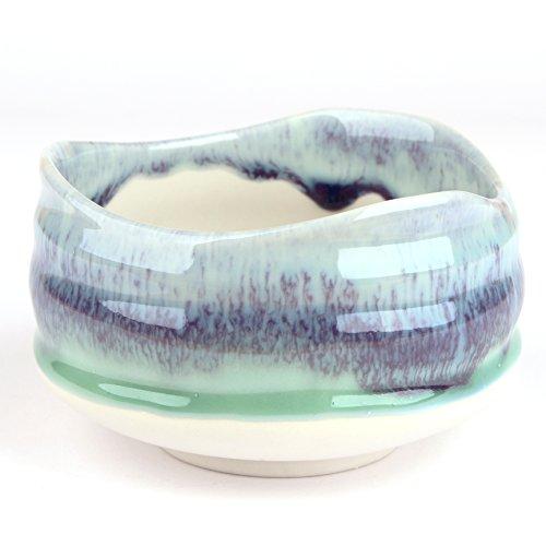 Goodwei Matcha Schale für japanische Teezeremonie (ohne Besenhalter, Sumi)