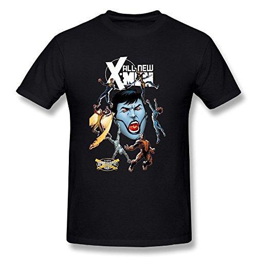SchrittGlucklich Men's X Men Face Triple Threat In Apocalypse Wars T Shirt Black (X-Large)
