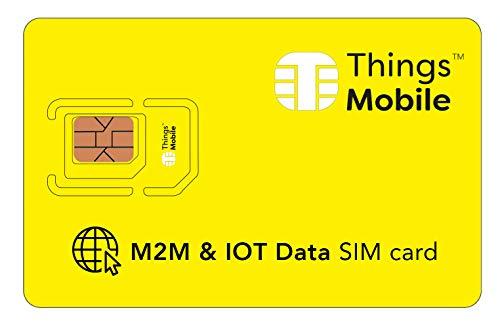 DATEN-SIM-Karte ohne VERFALLSDATUM und ohne FIXKOSTEN für IOT und M2M - Things Mobile - mit weltweiter Netzabdeckung und Mehrfachanbieternetz GSM/2G/3G/4G. 10 € Guthaben inklusive
