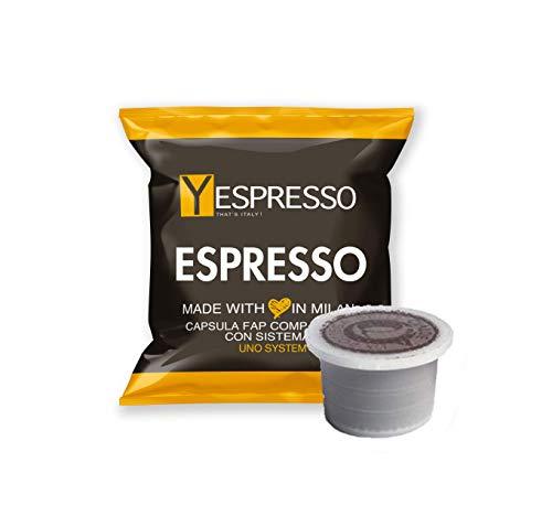 Yespresso Capsule Uno Indesit System Illy Kimbo Compatibili Espresso - Confezione da 100 Pezzi