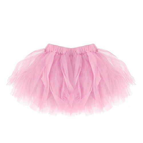 h Kurz Petticoat Ballett Tanzkleid Ballklei Abendkleid Damen Tutu Unterkleid Rock Abschlussball Reifrock Unterrock Karnevalskostüme(A-Rosa,Baby-0-24 Monate) (Halloween-kostüm-ideen Für Große Frauen)