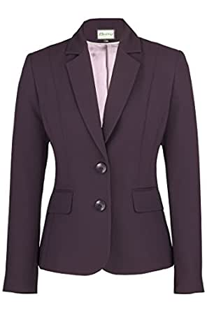 Busy Clothing Womens Dark Purple Suit Jacket - Size 10