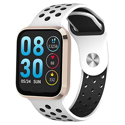 Unbekannt Gesundheits-Tracker, Herzfrequenz-Blutdruckmessung Bluetooth-Sport-Laufuhr, IP68 wasserdicht, intelligente Sportuhr für Männer und Frauen-Rosegold