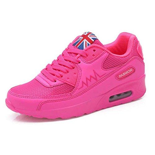 Solshine , chaussures compensées femme Pink1