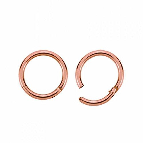 Rosegold - Segment Clicker (Piercing Ring Schmuck Smooth Closure Ring rosé Klicker) Stärke: 1,2 mm | Durchmesser: 8 mm