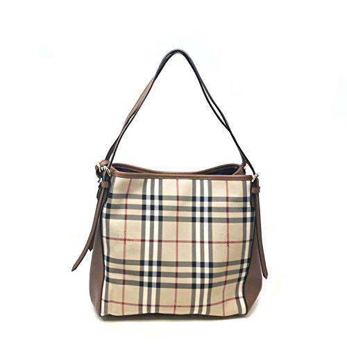 Burberry Handtasche Damen Tasche Damenhandtasche Tote Bag horseferry check Braun (Burberry Tasche Braun)