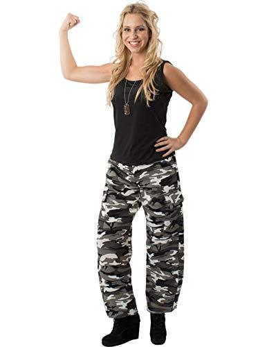 Meine Damen Arctic Camouflage Armee Soldat Mädchen Verkleidung Kostüm Medium