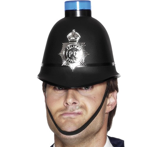 Police Helmet with Flashing Blue Light (gorro/ sombrero)