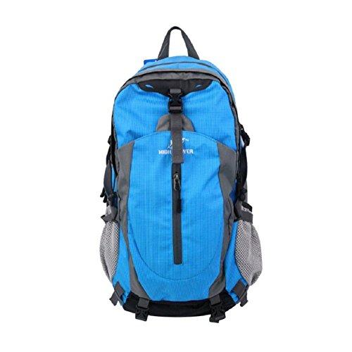 ZC&J European Style Rucksack, männlich und weiblich Universal Bergsteigen Tasche, Outdoor wasserdicht verschleißfesten, verstellbaren, tragbaren Rucksack B