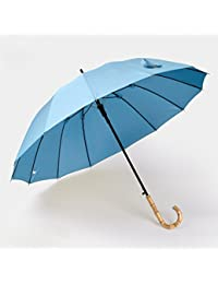 Baron W.H Vástago recto paraguas PARAGUAS paraguas 14 costilla fuerte viento lady sombrilla,C