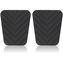 Par de almohadillas de pedal de goma para Hyundai Accent Tucson Tiburon Elant Genesis - Negro