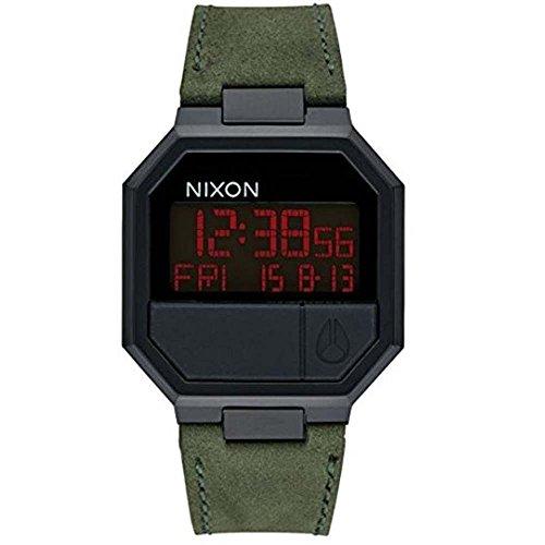 Nixon Unisex-Uhr Digital Quarz mit Lederarmband – A944032 (Nixon-digitaluhr-schwarz)