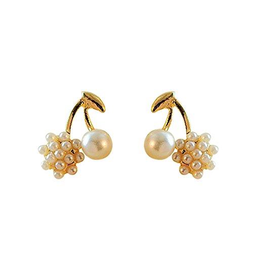 Gespout 1 Paar Mode Female Ohrringe Wunderschöne Ohrstecker Damen Earrings Kirsche Damen Schönes Geschenk Schmuck Accessoires