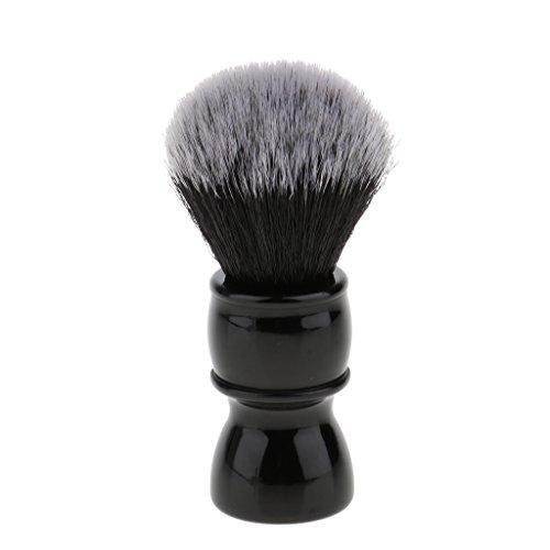 Baoblaze Männer Rasierpinsel Bartpflege Rasierschaum-Pinsel, weiche Nylon Haare Harz Griff Rasierpinsel - Männer Schwarz Für Rasierschaum