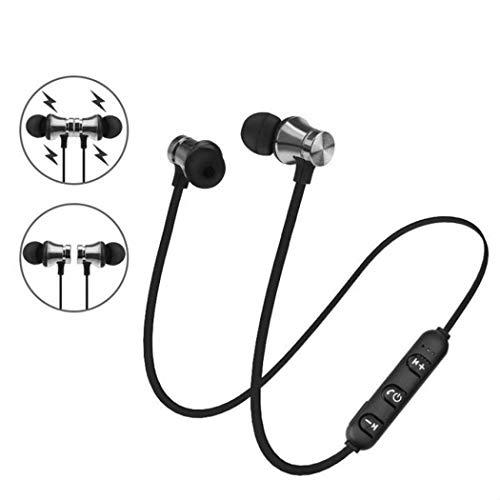 Haxisi Cuffie Bluetooth, Auricolari Magnetici Senza Fili Qualteus, Cuffie Auricolari 8H HIFI Stereo In-Ear Sweatproof IPX6 per Allenamento da Palestra Auricolari Auricolari con filo Bluetooth 4.1