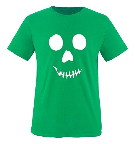 Comedy Shirts - Geschicht Totenkopf - Comic - Jungen T-Shirt - Grün / Weiss Gr. 152-164 (T-shirt Toms Freunde)