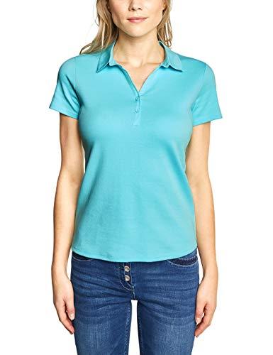 Cecil Damen 313337 Nele T-Shirt, per Pack Türkis (Light Aqua Blue 11764), X-Small (Herstellergröße:XS) - Light Blue Damen-shirt