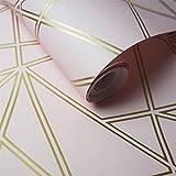 Holden Décor Paladium Metallisch Streifen Geometrisch Weich Modern Tapete - 90115 Altrosa