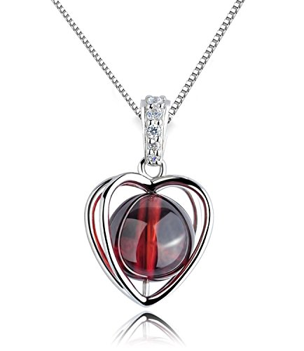 sterling-silver-womens-love-heart-rotating-red-garnet-pendant-necklace