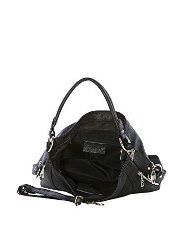 Mia Tomazzi - Leather Handbag - Made in Italy - 35x12x29 cm - Shopper - cross body - Shoulder Bag - Tote Bag Schwarz