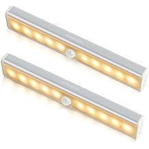 2*Barra de Luz LED, iHome&iLife Luz LED Con Sensor de Movimiento USB para Closet Gabinete, Armario, Escalera luz de La Noche