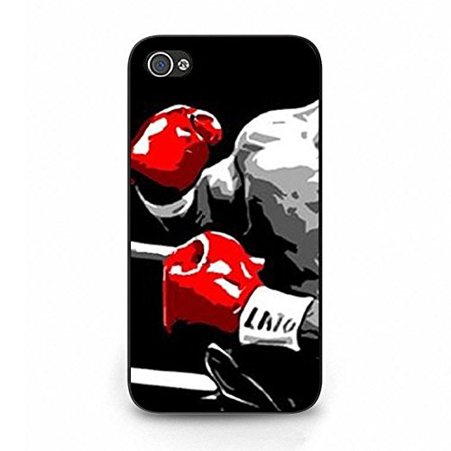 Boxing Iphone 4/4s Case Hybrid Durable Boxing Phone Case Cover for Iphone 4/4s Fight Retro Color112d