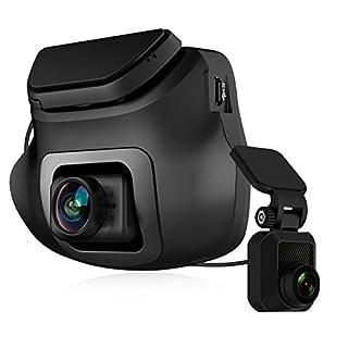 Z-Edge Dual Dashcam Autokamera Ultra HD 1440P Frontkamera mit Rückkamera 1080P, 150° Weitwinkelobjektiv, Loop-Aufnahme, WDR, Bewegungserkennung, G-Sensor, Parküberwachung, inkl. 16GB MicroSD Karte
