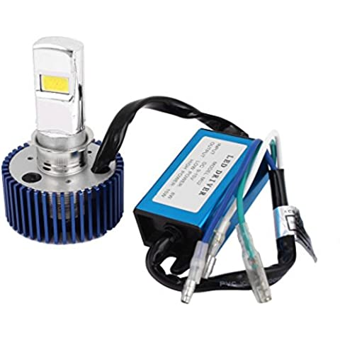 Blanco de la linterna LED 8-15W DC 9-15V Luz Moto