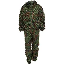 Zhuhaimei,Chasse 3D Costume de Camouflage Feuille Bionic Set CS Savage Camo  Jungle Sniper Ghillie 6755e6e3fe1