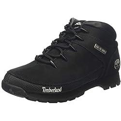 Timberland Euro Sprint Hiker, Bottes Chukka Homme, Noir (Black Nubuck), 42 EU