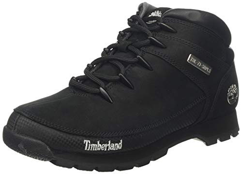 Timberland Herren Euro Sprint Hiker Chukka Boots, Schwarz (Black Nubuck), 44 EU -