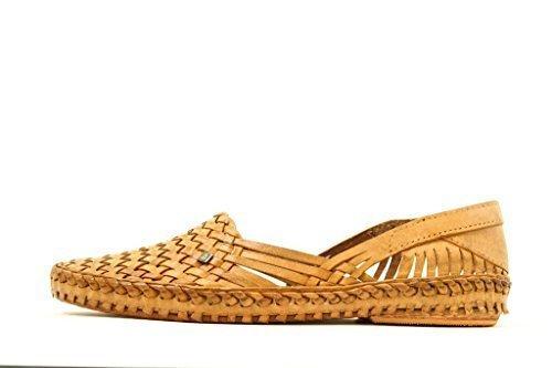 Desi Hangover de Los Hombres Zapatos Marrón Plano Beldad Kolhapuri Estilo Chappal Cuero Fracaso Slippers Mocasín, 44, Envío expreso Gratis