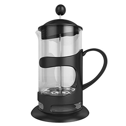 Homdox Kaffeebereiter 1L /French Press und Teebereiter mit Edelstahlfilter /Kassischer Design/ für herrlichen aromatischen Espresso oder Tee/ Schenell Einfache genißen/Aroma-Genuss durch den Coffee Maker
