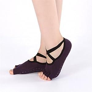 BSD Fußabdeckung Yoga Socken Kreuzgürtel Ballettbewegung Belegleck gelten für Frauen