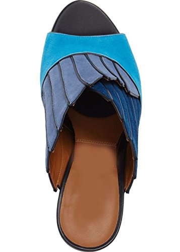 Escarpin en Nubuck oiseaux Model Callas par HGilliane Design Eu 33 au 44 Bleu dégradé