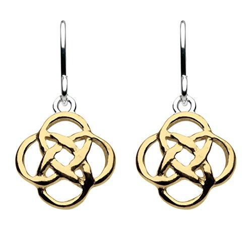 Heritage, in argento Sterling e oro-Orecchini pendenti con nodo celtico