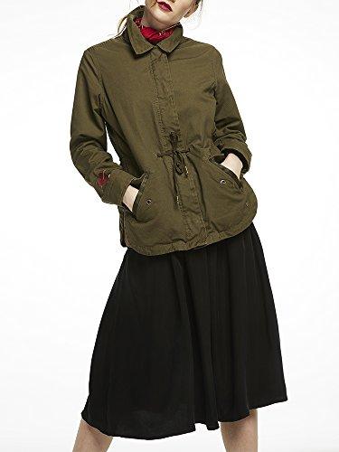 Scotch & Soda Maison Damen Jacke Embroidered Army Jacket Mehrfarbig (Combo A 17)