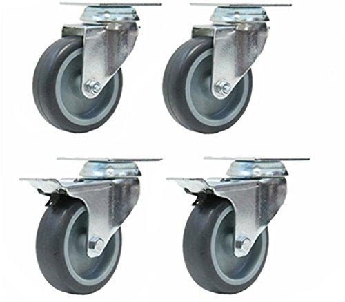 ensemble-de-quatre-roulettes-en-caoutchouc-gris-2-roues-pivotantes-et-2-freinees