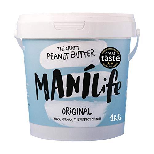 ManiLife Erdnussbutter - Peanut Butter - Alles Natürlich, ein Anbaugebiet, ohne Zuckerzusatz, ohne Palmöl - Original Roast Crunchy - (1 x 1kg)